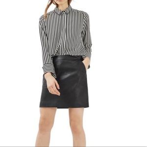 TOPSHOP • faux leather mini skirt